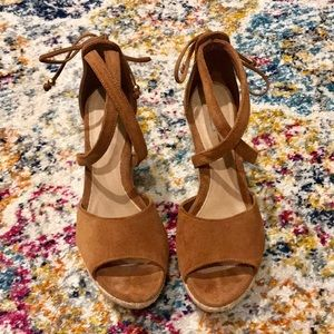 UGG Reagan Chestnut Suede Wedges